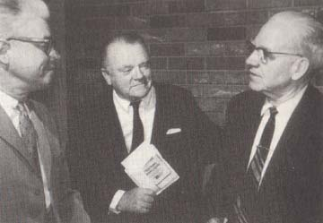 Edward Zern from American Motors, actor James Cagney, Arthur Carhart, December 1968. Denber Public Library, Western History Collection, Conservation Library Collection photos.